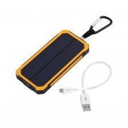 EY 300000MAH Waterproof Solar Power External Power Bank With LED Light For Mobile Phones With Cable For IPhone For Samsung-yellow