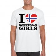 Shoppartners I love Norwegian girls t-shirt wit heren