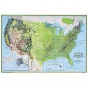 Harta fizică SUA National Geographic