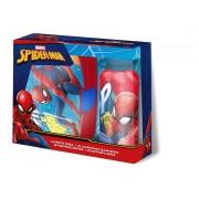 Pókember uzsonnás doboz+alumínium kulacs szett