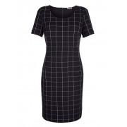 Alba Moda Kleid, Damen, schwarz, aus besonderem Materialmix