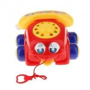Alcoa Prime Toddler Pre School Toys Pull Along Driving Car for Baby Educational Toys Red