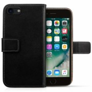 Iphone 8 Real Leather Wallet - Black