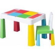 Masa cu 1 scaun 2 Fete O Fata Compatibila Set de Lego Multicolor