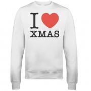 I Heart Xmas Christmas Sweatshirt - White - L - White
