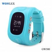 Ceas inteligent pentru copii GW300 Bleu cu telefon localizare GPSWiFi si monitorizare spion