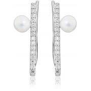 JVD Cercei din argint cu perle naturale SVLE0412XH8P100