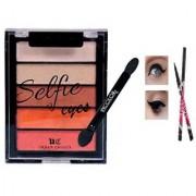 Selfie 5 in 1 Shimmer Eye Shadow-02 With 1 Sketch Eye Liner