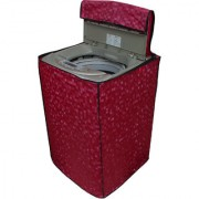 Glassiano Dark Pink Colored Washing Machine Cover For LG T7567TEEL3 Fully Automatic Top Load 6.5 Kg