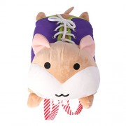 MagiDeal Kids Baby Educational Soft Plush Stuffed Learn to Dress Cute Hamster Doll Zip Button Snap Lace Learning Toy Gift Brown