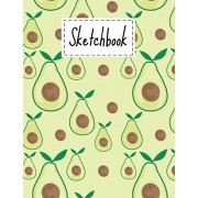 Sketchbook: Cute Avocado Gifts sketchbook For Drawing Sketching Doodling Paper Book For kids Girls Boys Men And Women Avocado Them, Paperback/Creatlifepink Press