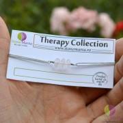 Bratara Therapy cuart roz A++ 8mm si argint 925