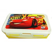 ski car printed LUNCH BOX FOR SCHOOL KIDS 800ML (colours may be vary)