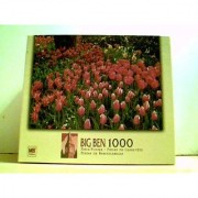Spring Tulip Garden - Big Ben 1000 Piece Puzzle 20 1/8 X 26 3/15