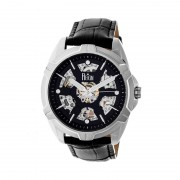 Reign Carlisle Automatic Skeleton Leather-Band Watch - Silver/Black REIRN4204