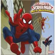 Tovaglioli di Spiderman - Tovaglioli di Carta 33cm per Festa Spiderman Marvel Ultimate Web Warriors