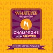 Champagne Is The Answer Coaster & Card