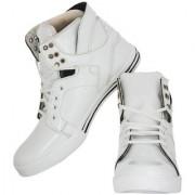 Stylish Step White Canvas Sneaker
