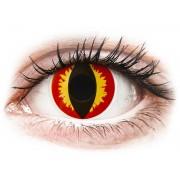 ColourVUE Crazy Lens Dragon Eyes - napi lencsék dioptria nélkül (2 db lencse)