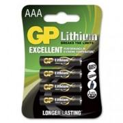 Gp Batteries Blister 4 Batterie Litio Mini Stilo AAA 1,5V/24LF Longest Lasting