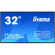 iiyama 32' 1920x1080, IPS panel, Fan-less, Speakers, Multiple In-/Outputs (VGA, DVI-D, HDMI and more), 350 cd/m², 1400:1 Static Contrast, 8 ms, Landscape mode, Media Play USB Port, LAN Control (RJ45),