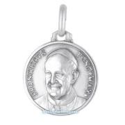medaglia religiosa in argento papa francesco 16 mm