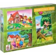 Set de 3 puzzle cu imagini din desene animate 3 ani+ Topi Dreams