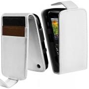 Housse Coque Etui Portefeuille Couleur Blanc Pour Blackberry Curve 8520