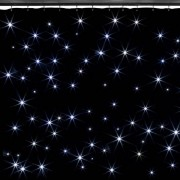 Beamz SparkleWall Cortina LED 96 LED RGBW 3x2 m Incl. mando a distancia (Sky-151.201)