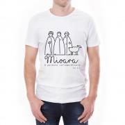 Tricou bărbați Mioara Învie Tradiția alb/negru