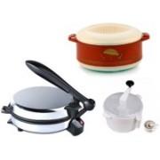 ECO SHOPEE COMBO OF DETACHABLE ROTI MAKER, CASSEROLE DOUGH MAKER Roti/Khakhra Maker(Silver)