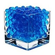 Kuhu Creations Supreme Colorful Pearl Shape Water Absorbing Crystal Mud Soil Aqua Balls. (10 Small Bags, Blue Color Bags)
