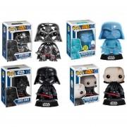 Funko Pop Set 4 Darth Vader Cromado Glow Colección Star Wars