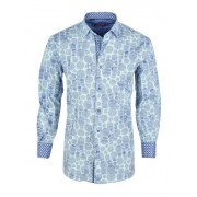 Spazio Mandala Long Sleeved Shirt Navy 24-S-1911