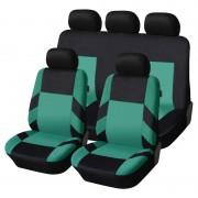 Univerzális üléshuzat garnitúra fekete-zöld (osztható) Exlusive