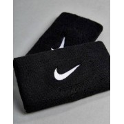 Nike Training Swoosh Double-Wide Wristbands In Black NN.05-010 - Black