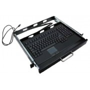 Adesso 19-Inch, 1U Rackmount Keyboard Drawer with Built-in Touchpad USB Keyboard (ACK-730UB-MRP)