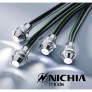 LUMITRONIX Verchromte LED Schraube warmweiß, IP67, 12V