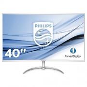 Philips bdm4037uw/00 101 cm (40 inch) monitor (VGA, 2 x HDMI, 2 x DisplayPort, 4 x USB 3.0, 3840 x 2160, 60 Hz, 4 MS, Curved) Zilver