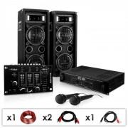 Electronic-Star DJ - PA szett DJ–24M, erősítő, keverő, hangfalak, mik, 1200W (PL-1180-216M)