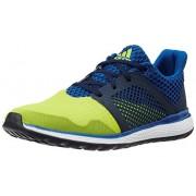 adidas Men's Energy Bounce 2 M Blue, Core Black and Orange Mesh Running Shoes - 8 UK
