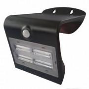 Aplica solara LED de exterior panou solar senzor de miscare 3.2W 400lm neagra