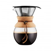 Bodum - Pour Over Coffee Maker with permanent filter, cork 1.0 l