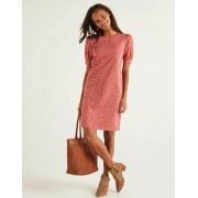 Boden Rouge/Gold, Polka-Tupfen T-Shirt-Kleid mit Puffärmeln Damen Boden, 40 PET, Red