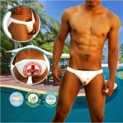 Icker Sea Lifeguard Micro Slip Bikini Swimwear White COB-14-LG01
