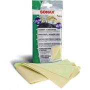 Sonax GmbH SONAX Scheiben- & FensterTuch, Entfernt selbst hartnäckige Verschmutzungen wie Fett und Schmierfilme, 1 Packung = 1 Tuch