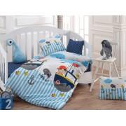 Lenjerie de pat pentru copii, Majoli Bahar Home Collection, material: 100% bumbac, 110BHR2026