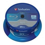 Medii de stocare verbatim 25 buc. BD-R Blu-Ray 25GB 6x Speed Datalife No-ID Cakebox (43837)