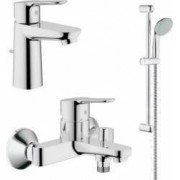 Set complet baterii baie Grohe BauEdge set dus bara-GRO112927