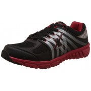 Sparx Men's Black and Red Mesh Running Shoes - 6 UK (SX0177G)